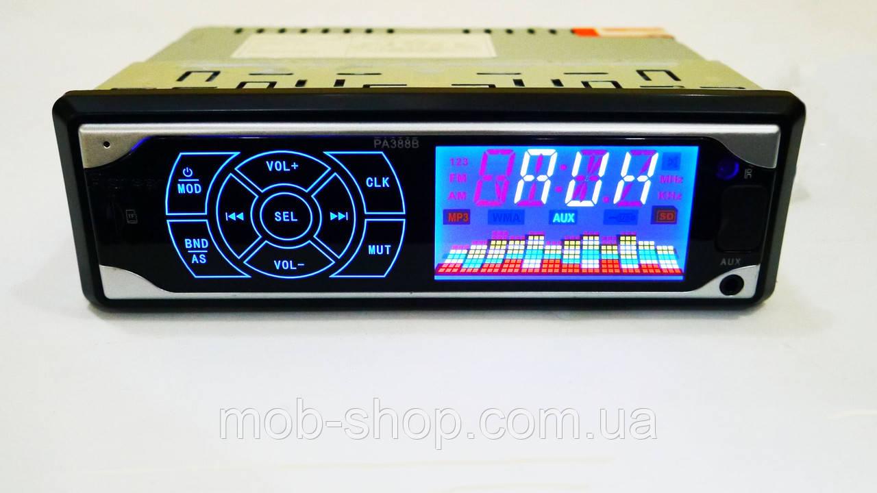 Автомагнитола пионер Pioneer PA388B ISO - MP3 Player, FM, USB, SD, AUX сенсорная магнитола