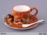 Чайный набор Грибная поляна 2 предмета с ложкой, 58-742