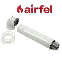 Комплект для коаксиального дымохода 1000 мм, 60/100 (Standart) Airfel