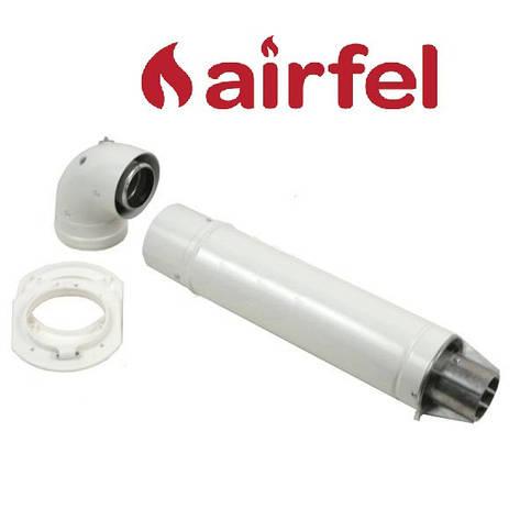 Комплект для коаксиального дымохода 1000 мм, 60/100 (Standart) Airfel, фото 2