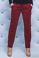 Женские штаны на резинке бордо