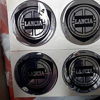 Наклейки на диски, колпачки заглушки силиконовые Lancia 60 мм