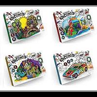 """Расписной конструктор 3D """"Собери и раскрась!"""" 3DK-01-01, набор для творчества, набор-раскраска"""