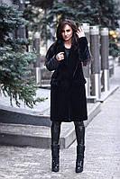 Женская стильная шуба с клапанами над карманами, в расцветках