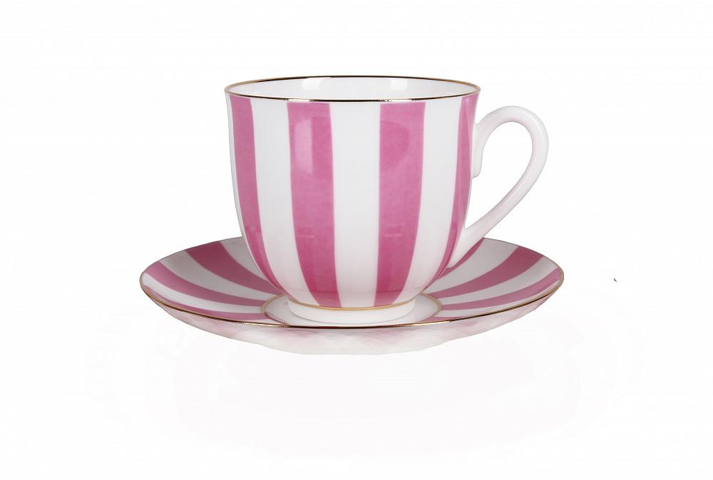 Чашка кавова з блюдцем В. Ф. З. Конвалія Так і Немає 180 мл рожева 23096
