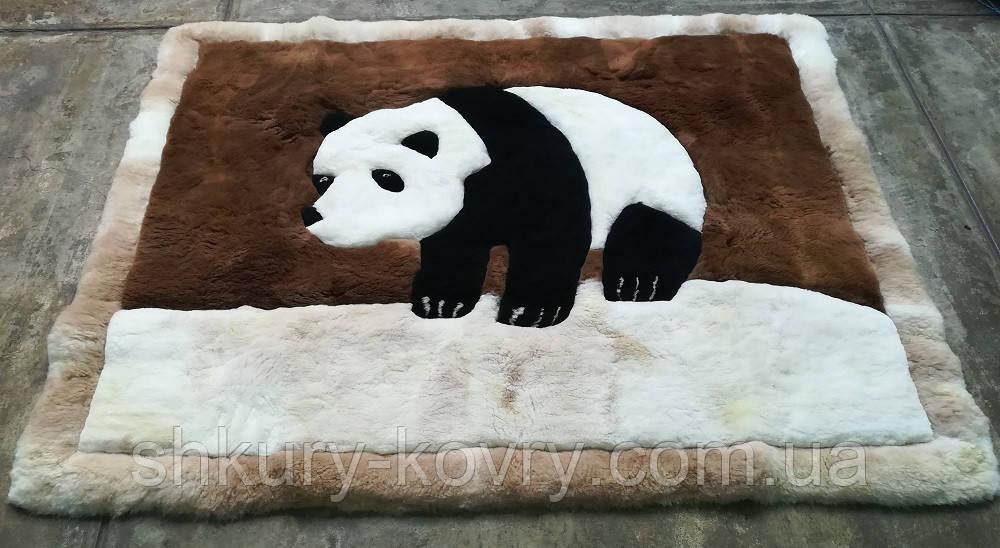 Ковер панда, купить ковер с медведем, ковер из меха мишка