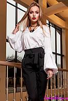 Женская Блуза из 100% Коттона Белая р. S M L XL
