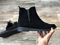 Ботинки № 409-3 черный замш, фото 1