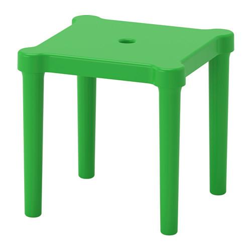Табурет детский для дома и улицы IKEA UTTER зеленый 203.577.77