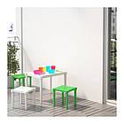 Табурет детский для дома и улицы IKEA UTTER зеленый 203.577.77, фото 2