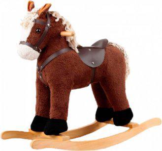 Игрушечный конь - качалка, цв.коричневый c музыкой