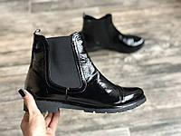 Ботинки №334-5 черный лак, фото 1