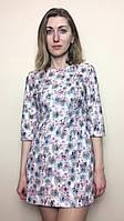 Нарядное платье-туника из жаккарда П153