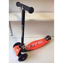 Cамокат детский 3-х колесный Scooter ( Складной руль, широкая дека, металлическая защита, до 70 кг)