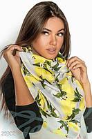 Легкий принтованный шарф