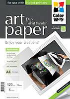 Термотрансферная бумага на темную ткань, А4 5лис, ColorWay