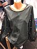 Блузка коттон с жемчугом