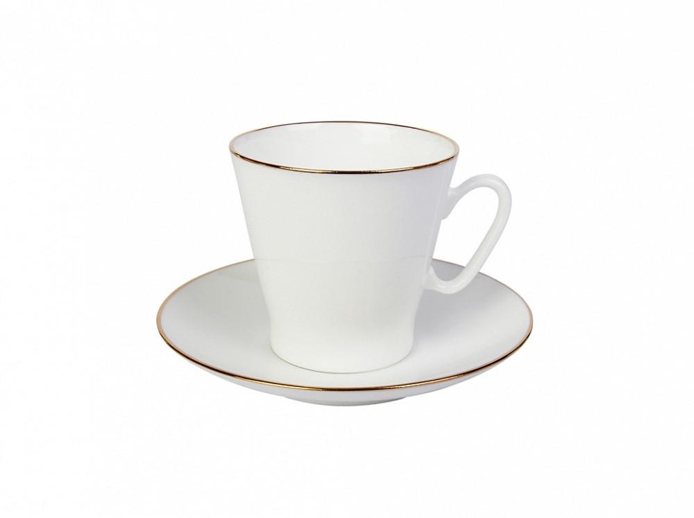 Чашка кофейная с блюдцем И.Ф.З. Черный кофе Золотой кантик 80 мл 14441