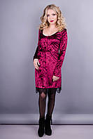 Лия. Праздничное платье для женщин. Бордо.