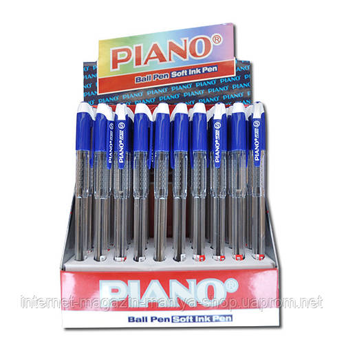 207 «Piano elegance» ручка масляная син.