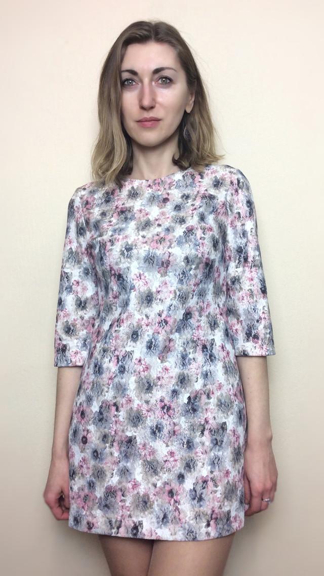 Платье-туника из жаккарда П153
