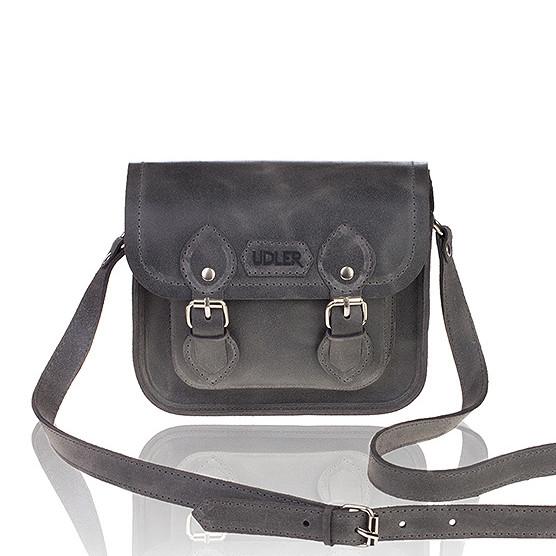 2aaf862fda07 Сумка сэтчел серого цвета - Интернет - магазин дизайнерских аксессуаров от  Zhanna UDLER™ в Киеве