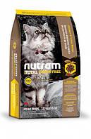 Nutram CAT GRAIN-FREE Turkey & Chiken 6.8 кг - беззерновой холистик корм для кошек (индейка/курица)