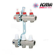 Коллектор для теплого пола ICMA с расходомерами G 3/4 (на 3 контура)