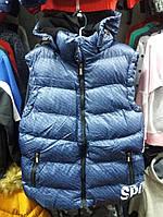 Жилетка  на мальчика  цвет  синий  164  см