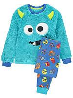 """Детская пижама размер 92 см, теплая пижама для мальчика George """"Маленький монстрик"""""""