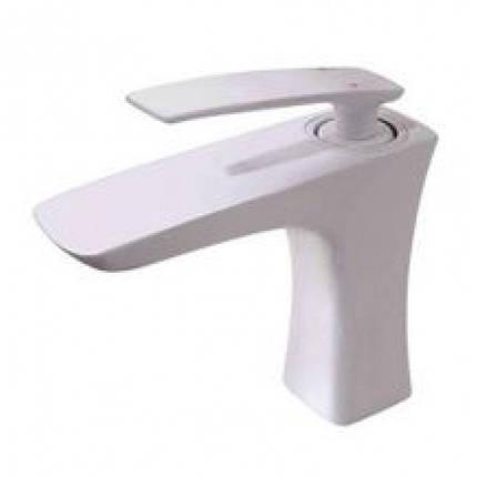 Смеситель для умывальника (Белый глянец) Newarc 981521W (Турция), фото 2