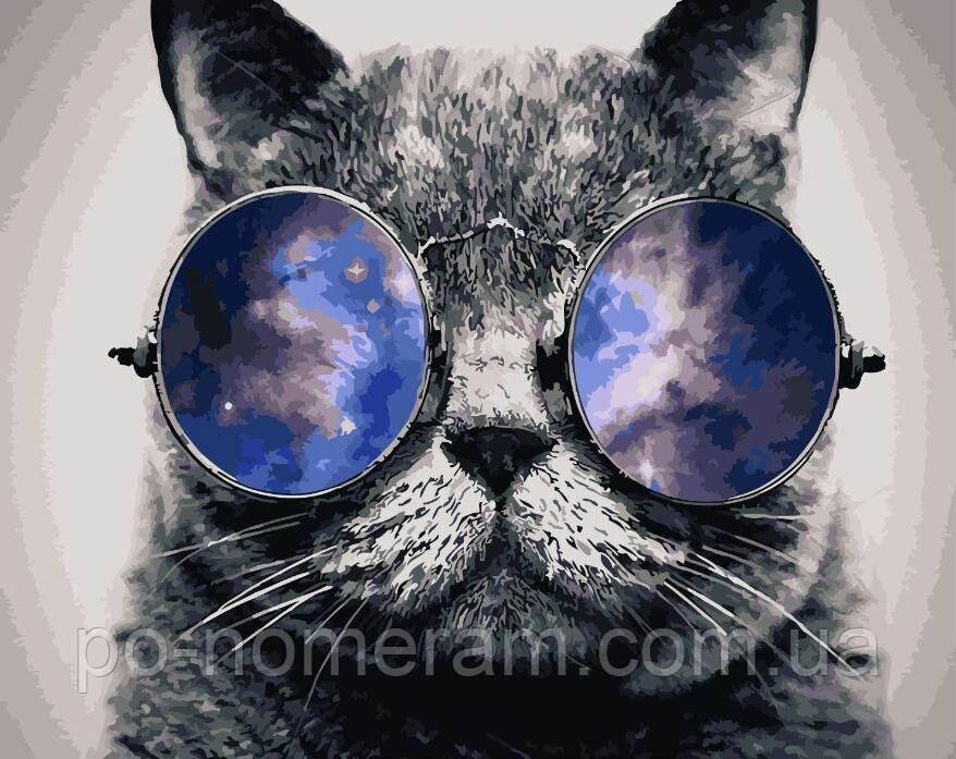Раскраска по цифрам Космический кот (BK-GX21679) 40 х 50 ...
