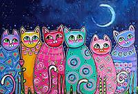 Картина по номерам Сказочные котики (BK-GX21706) 40 х 50 см [Без коробки]