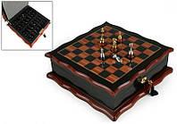 """Игра настольная """"Шахматы деревянные"""" 32х32х11 см."""