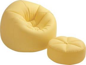 Intex 68558 Надувное кресло с пуфиком