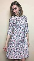 Коктейльное платье из жаккарда, П214