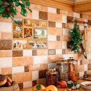 Плитка облицовочная для кухни Грани бежевые