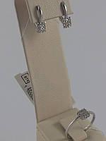 Комплект из серебра 925  с мелкими фианитами (арт.02-Н10145) 18