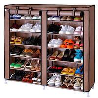 Полка шкаф для обуви 6 ярусов на 2 ряда органайзер