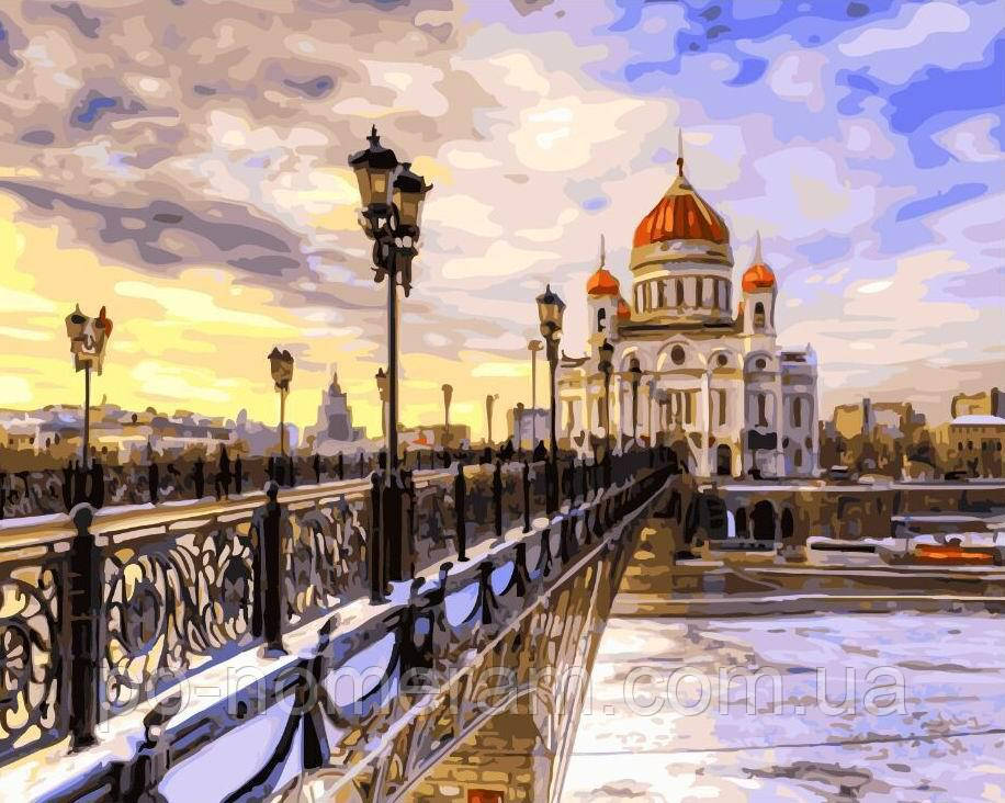 Картина-раскраска Храм Христа Спасителя (BRM21725) 40 х 50 ...