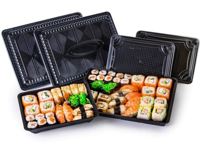 упаковка для суши на несколько отделений, фото