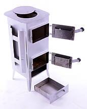 Стальная печь/ буржуйка Acap 7 на 160 м2, 7 шамотных кирпичей, фото 2