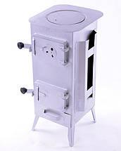 Стальная печь/ буржуйка Acap 7 на 160 м2, 7 шамотных кирпичей, фото 3