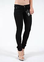 Стильные женские джинсы скинни узкие чёрные низкая посадка A.M.N. (amnesia) 6215DNM, фото 1