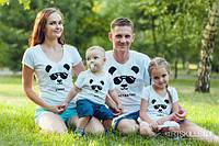 Семейная футболка «Панды»
