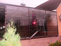 Утепление террасы прозрачными ПВХ шторами
