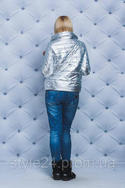 ЖІноча срібна куртка на весну.Р-ри 42-58  продажа 6c4dae134f520