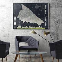 Скретч-карта Українські Карпати Black