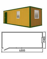 Бытовка | Вагончик | Прорабская с железным каркасом, размер 9 х 2,4 м. Доставка и Гарантия от производителя