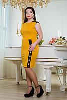 """Donna-M Платье """"Чикаго"""" (горчица+черный) 2000000023175"""
